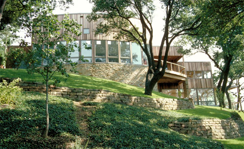 curve, Schaffer House, Eagle Mountain Lake, Fort Worth, TX - by W. Mark Gunderson, AIA